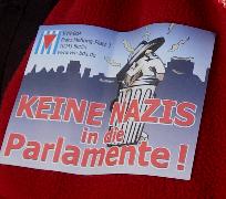 Aufkleber Keine Nazis in die Parlamente