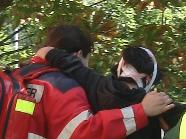Verletzte Demonstrantin