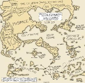 Weltkarte der sozialen Netze (klein)